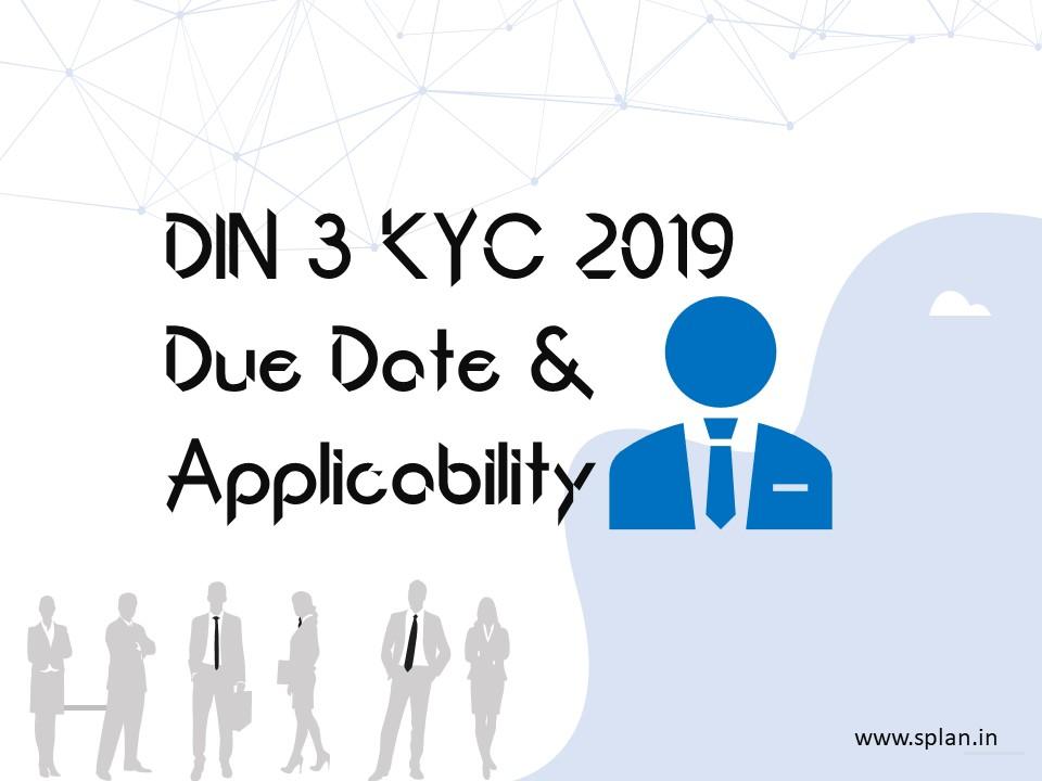 DIR-3 DIN KYC filing